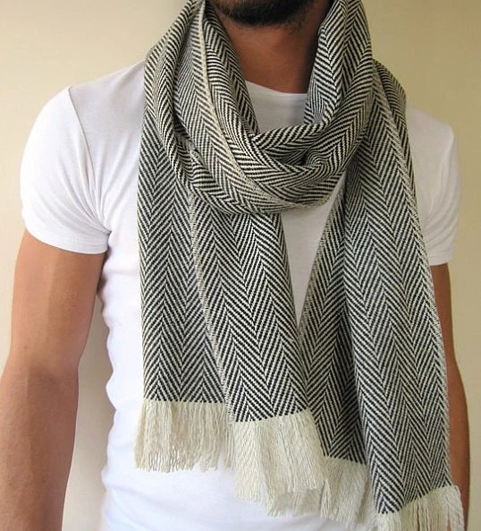 Scarf Made From Knit Fabric