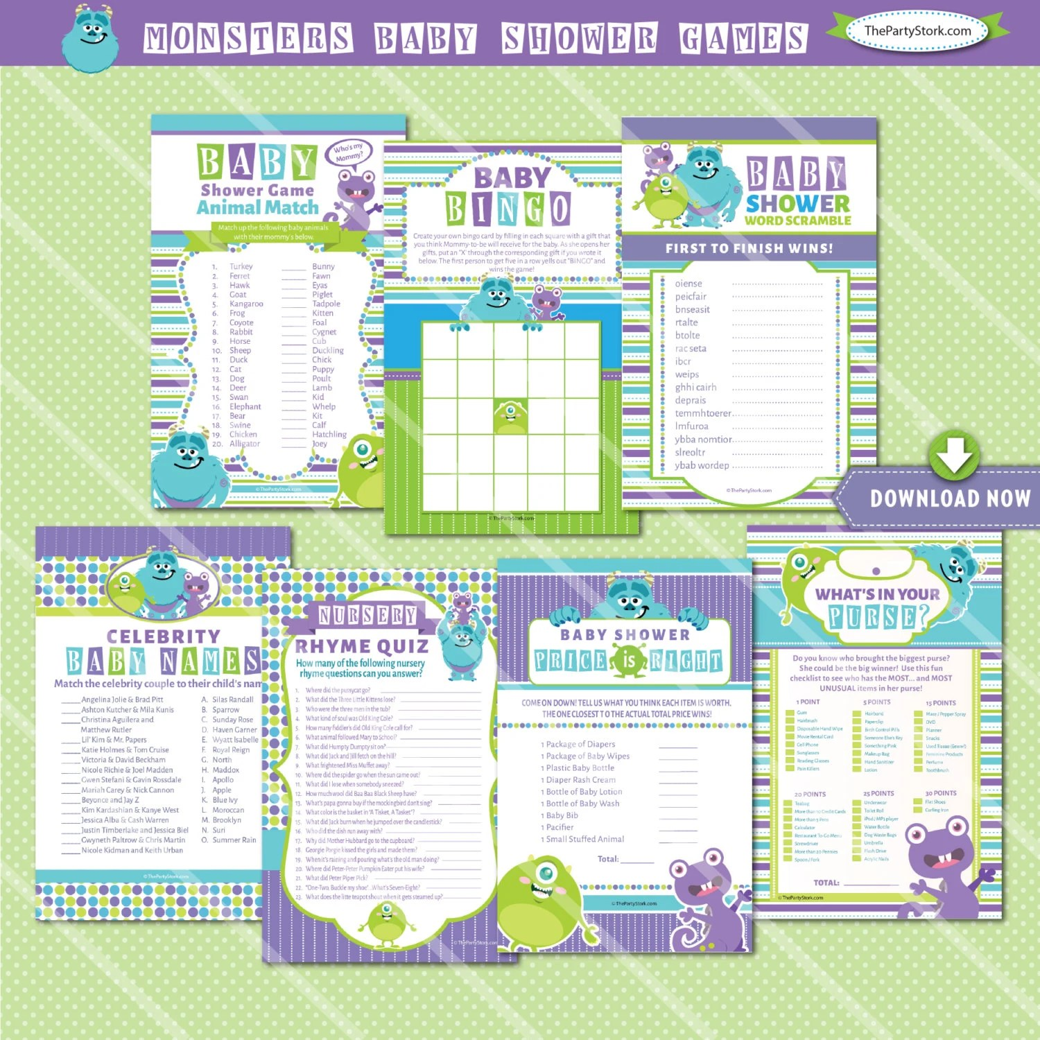 Monsters Inc Baby Shower Games Monsters Inc Baby Shower Game