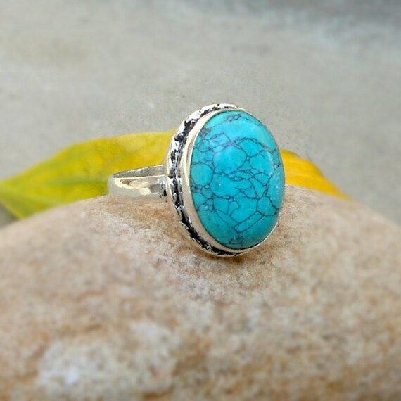 Turquoise Gemstone Ring December Birthstone Jewelry
