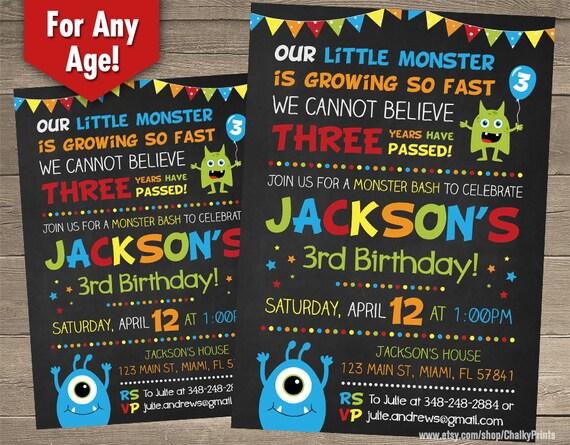 Little Monster Invitations Monster Birthday Little Monster