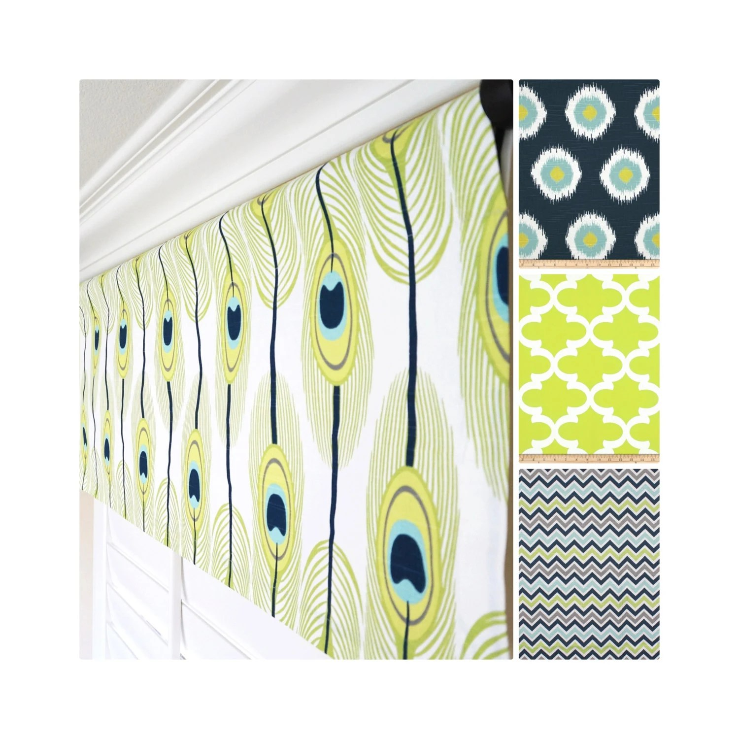 Peacock Feather Window Valance Peacock By Thedesignertouch