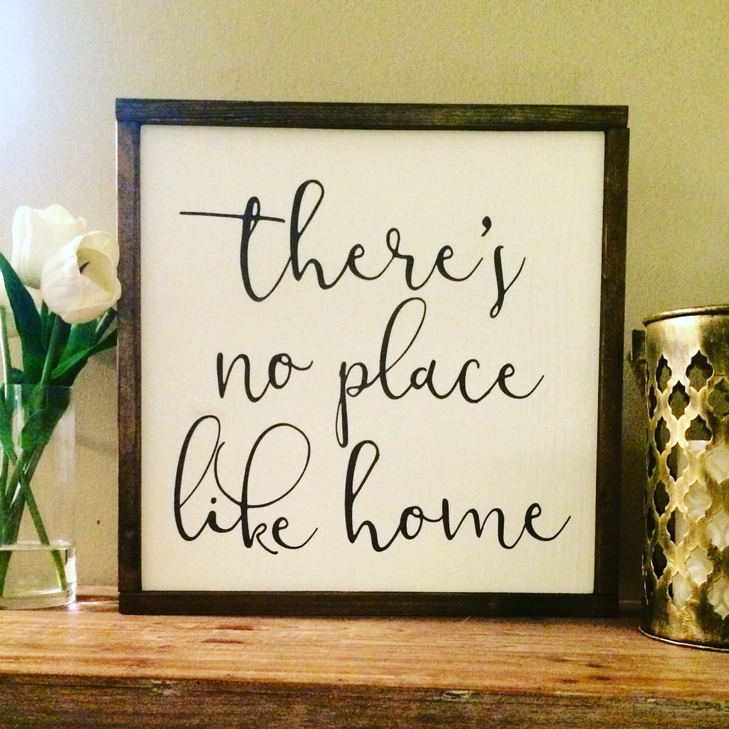 There's no place like home wood sign/Home Decor/Wall on Home Wall Decor Signs id=47218