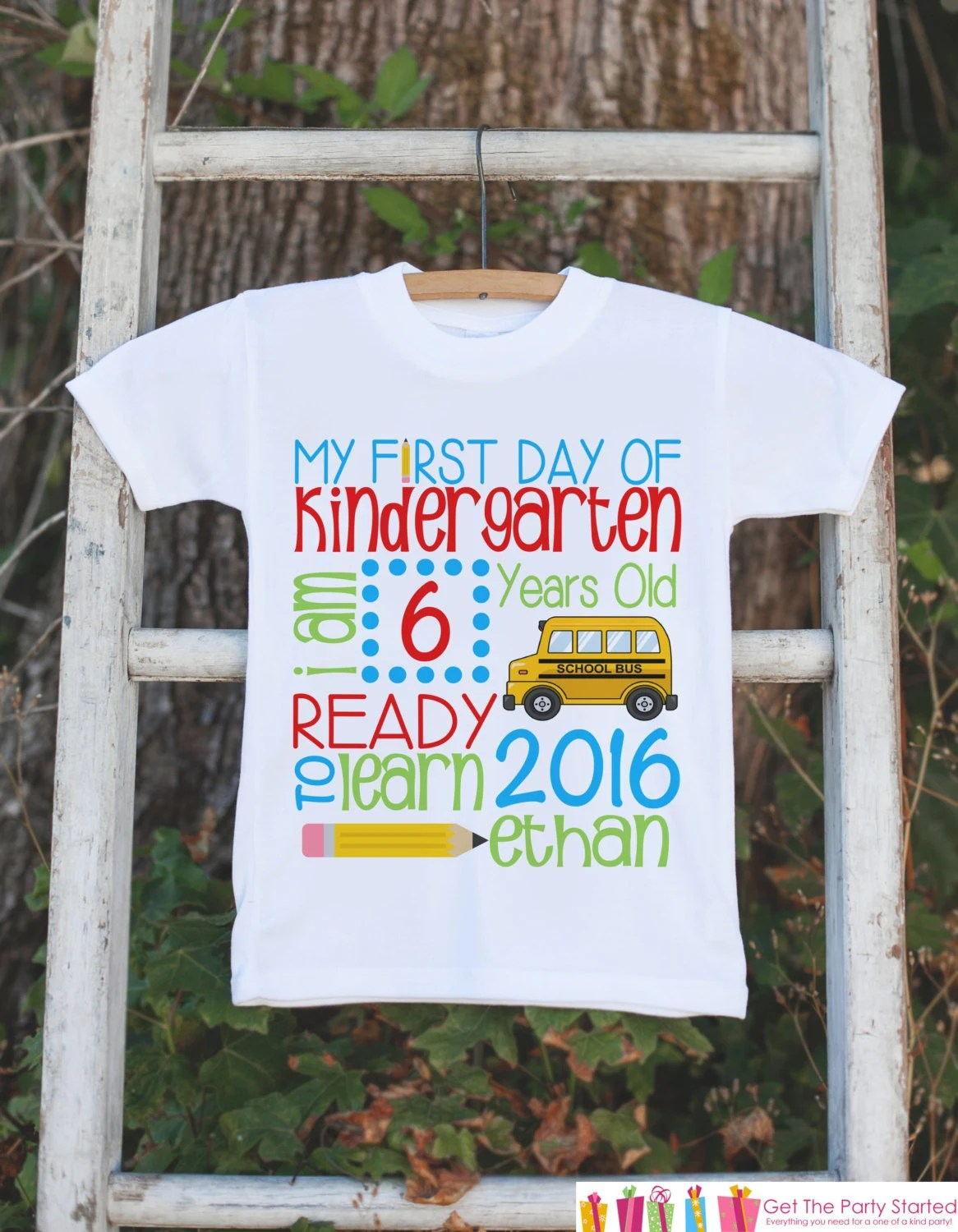 Kindergarten Shirt First Day Of School Outfit Custom Stat