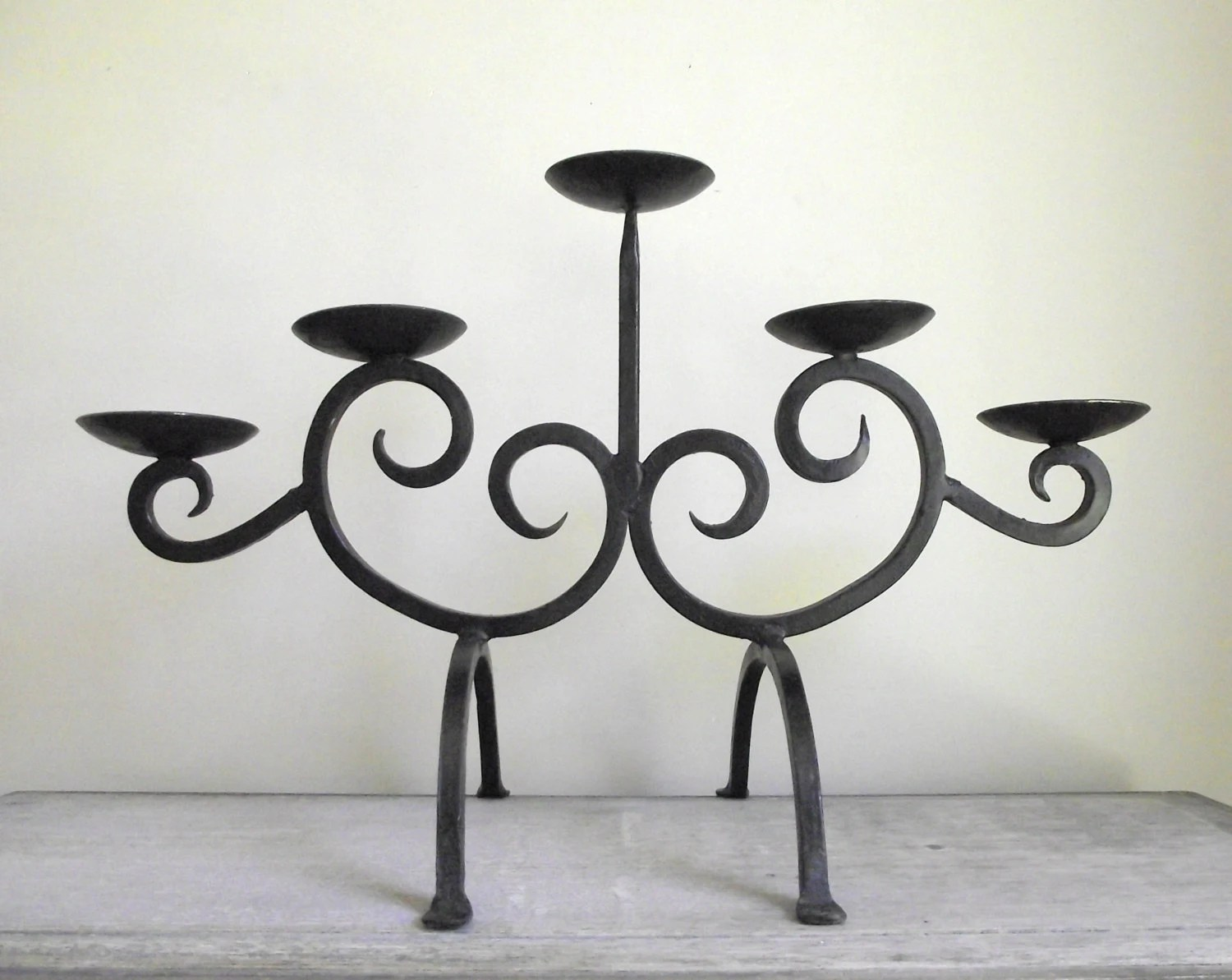 Wrought Iron Candle Holder Modern Rustic Scroll Black Iron on Black Wrought Iron Wall Candle Holders id=18579