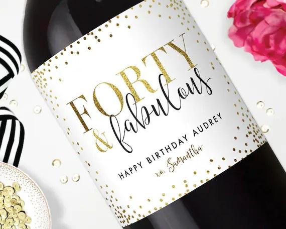 Birthday Wine Labels Happy Birthday Champagne Label Stickers
