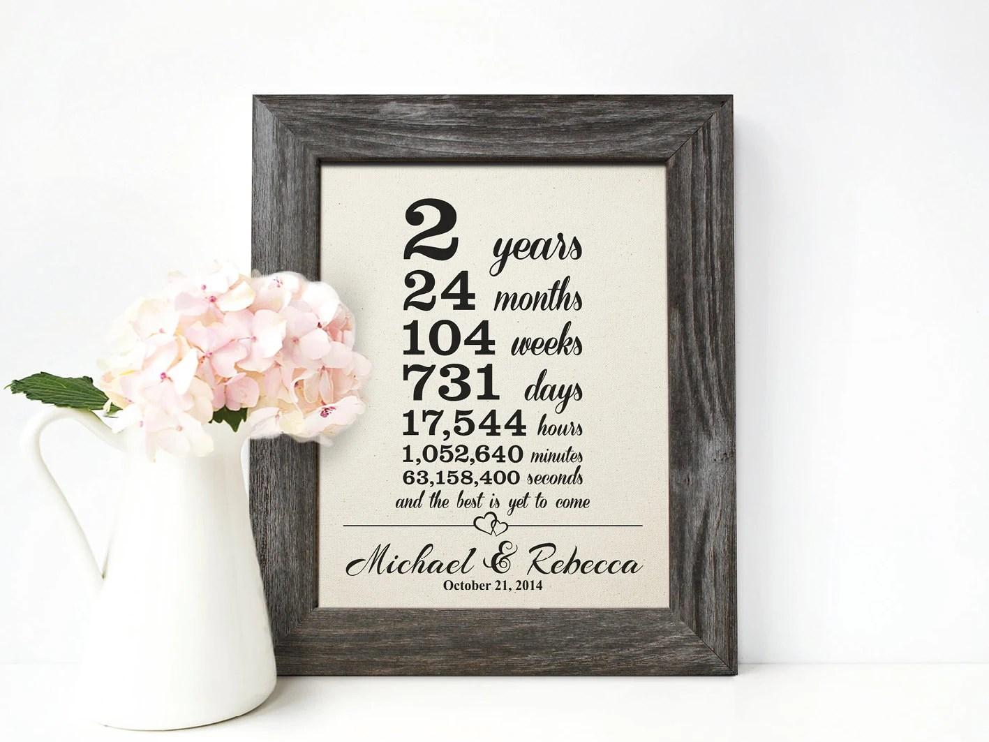 Cotton Anniversary Gift 2nd Wedding Anniversary Gift 2 Year