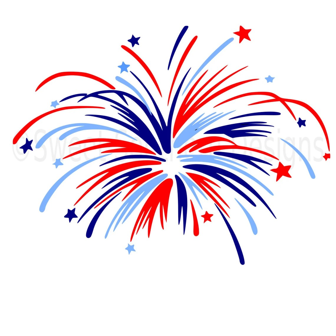 Download Monogram fireworks fourth of July Memorial Day SVG instant
