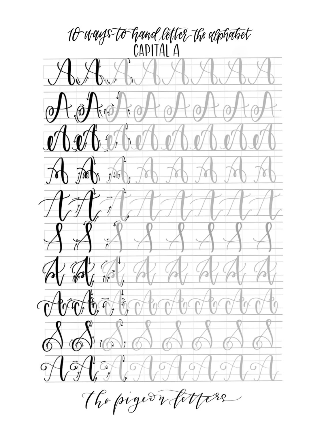 Bundle Amp Save Hand Lettering Practice Sheets By