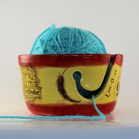 Gryffindor Ceramic Yarn Bowl