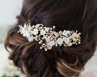 bridal headpieces wedding hair accessories by gildedshadows