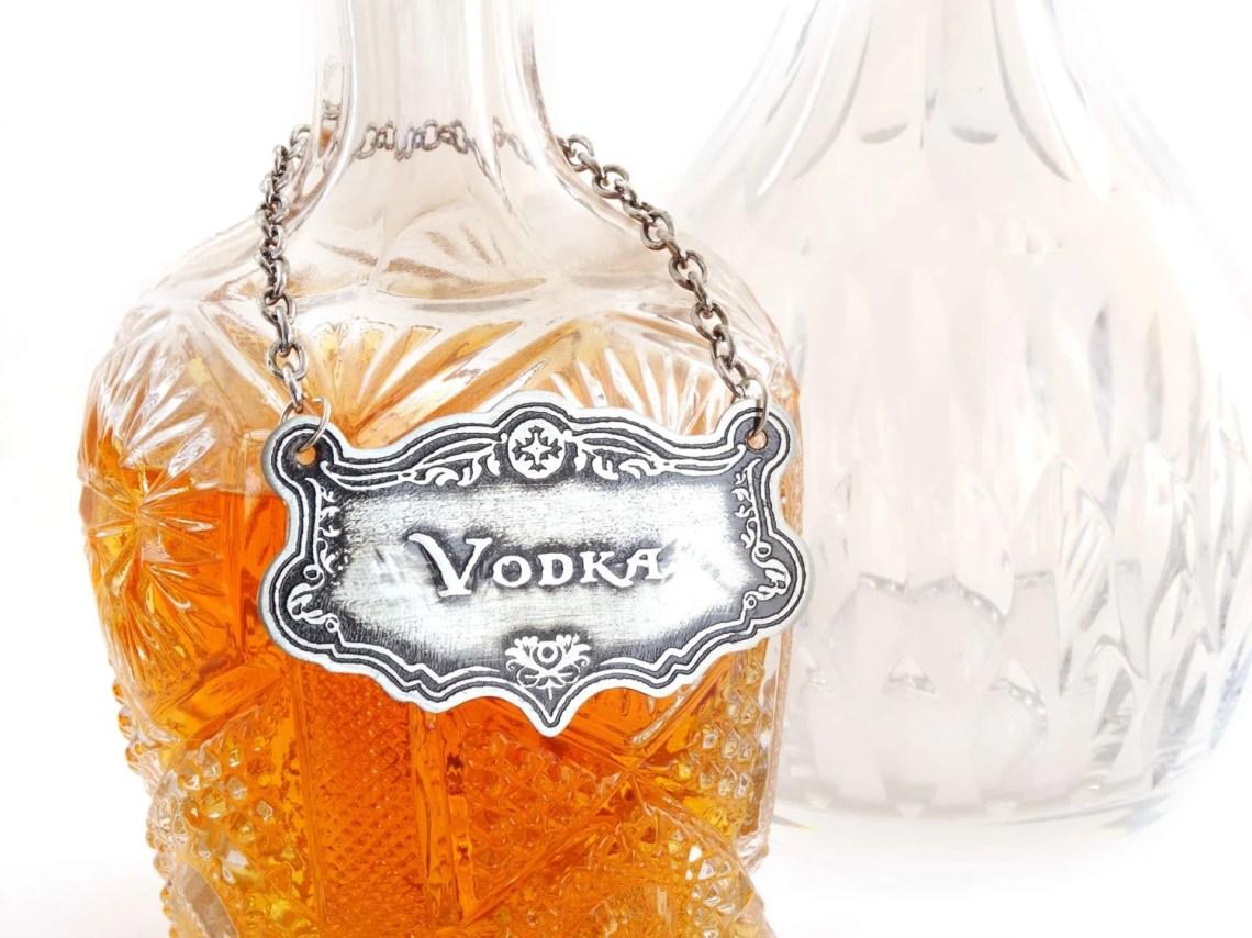 Decanter Label, Vodka, Et...