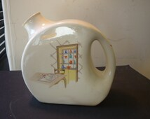 Unique Yellow Ware Pitcher Related Items Etsy