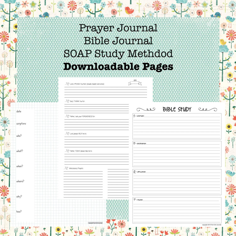 Downloadable Bible Journal Prayer Journal And Soap Bible