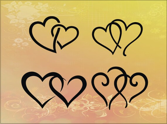 Download Hearts-in-Love SVG CUTTING FILE Vinyl Crafts Digital