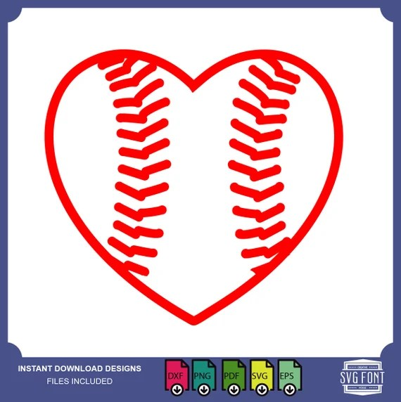 Download Baseball heart heart ball love baseball Files For Use With