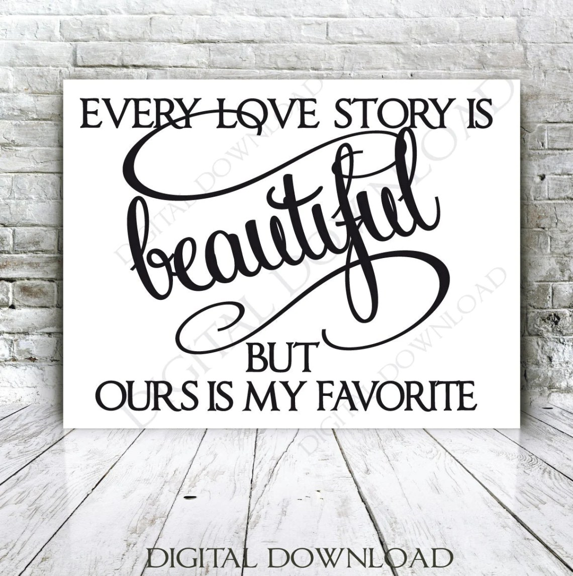 Download Every love story is beautiful Quote Vector by ...