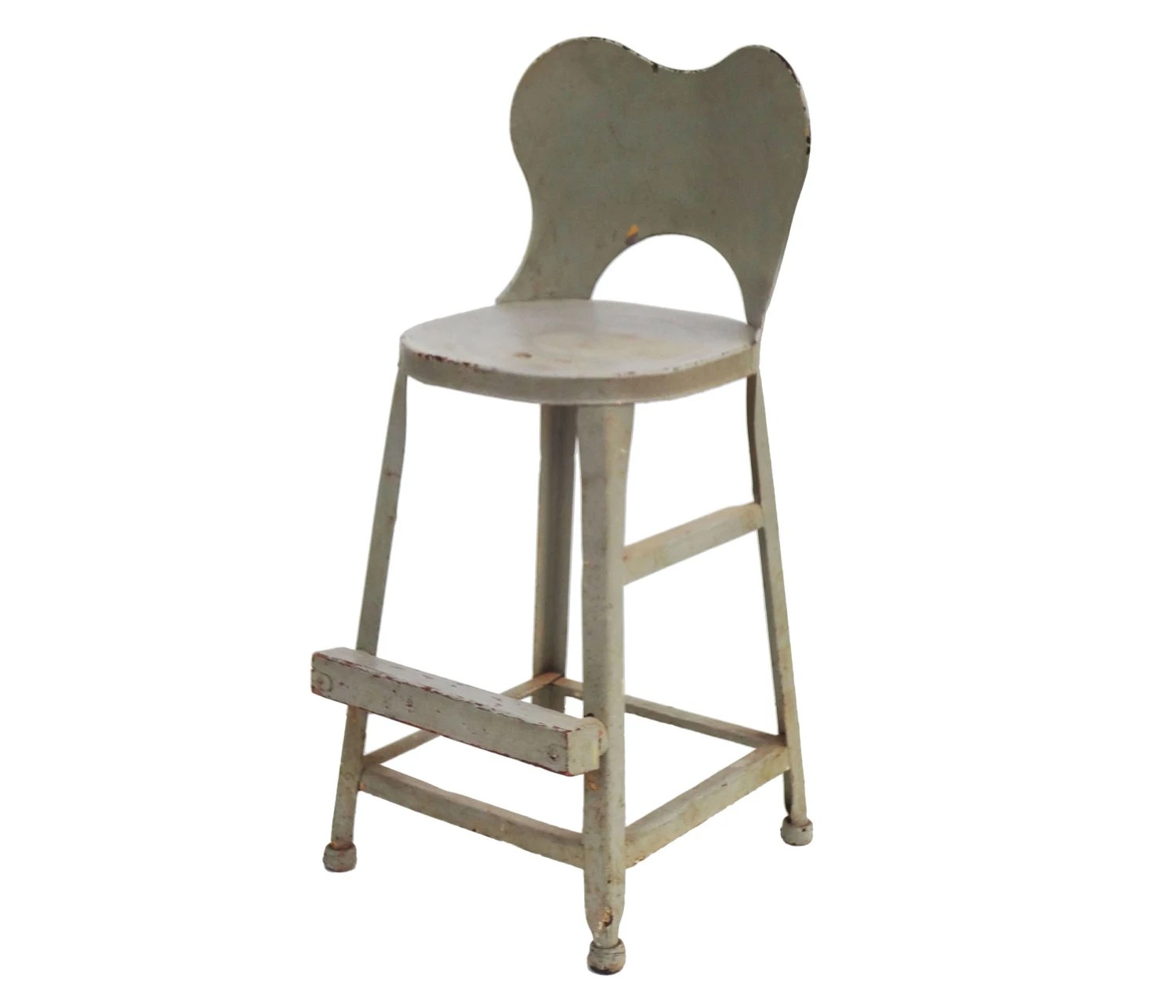 Vintage Delightfully Shabby Pale Blue Child's Booster Seat
