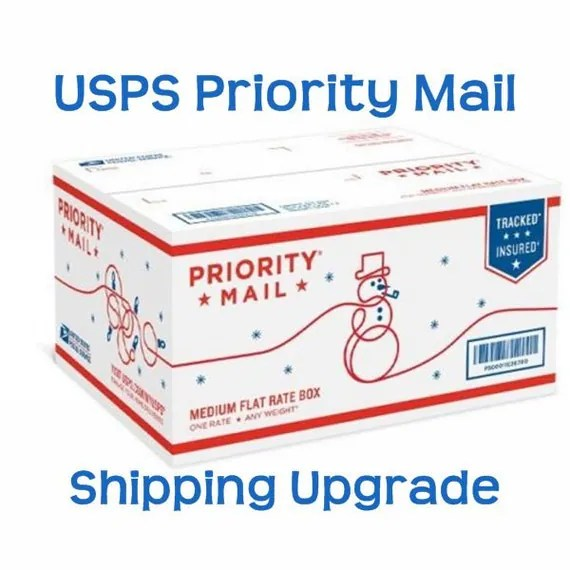 Priority Shipping Upgrade / Quicker Shipping Service / USPS