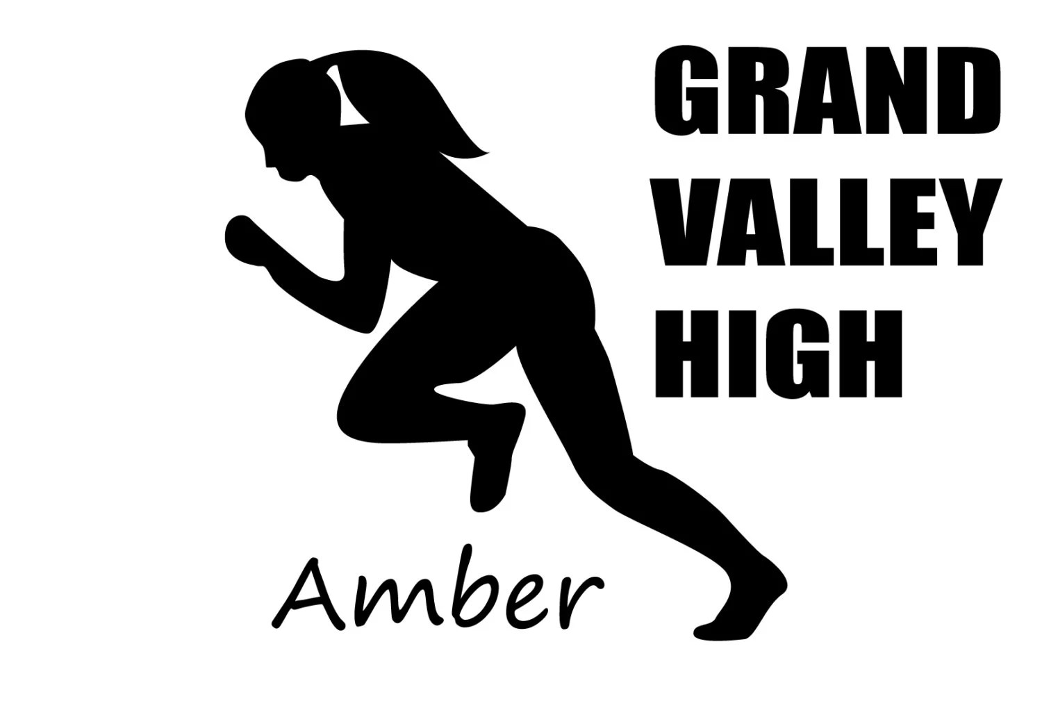 Personalized Track And Field Racing Decal Custom Girl Runner