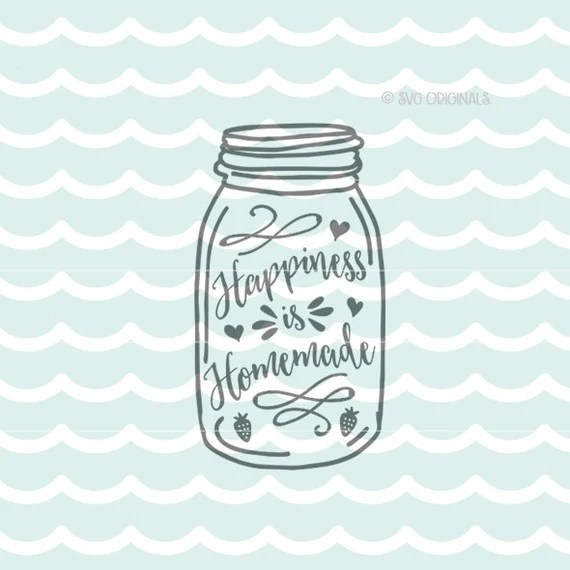 Download Happiness is Homemade SVG cut File. Cut or Print. Circut ...