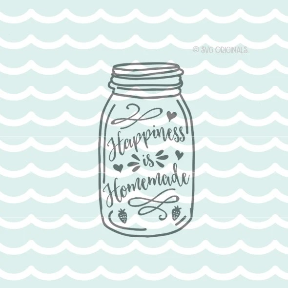 Download Happiness is Homemade SVG cut file. Cut or Print. Circut