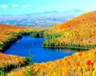 "Fall foliage, VT scenic, Autumn colors, Kettle Pond, Groton State Forest, Fall panoramic, for nature lovers, Title: ""Kettle Pond Overlook"""