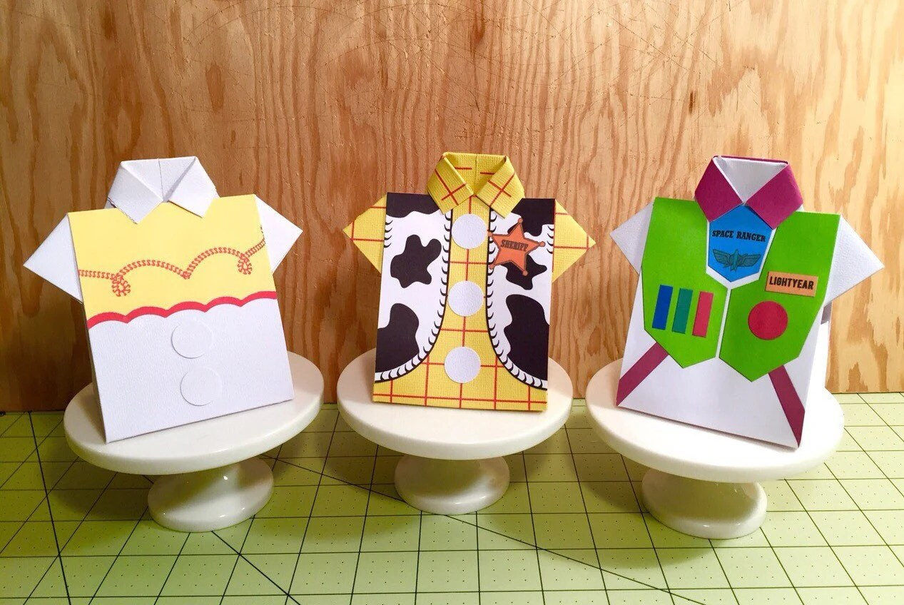 Tutorial For Toy Story Shirt Favor Box With Printable