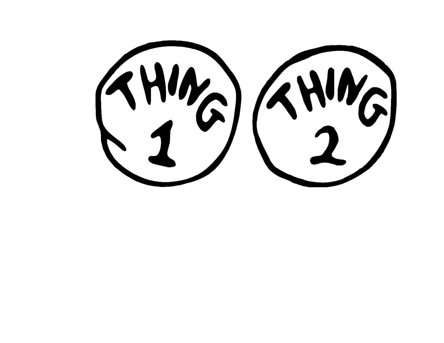 Thing 1 And Thing 2 Svg Or Silhouette Instant By Mandanoelle
