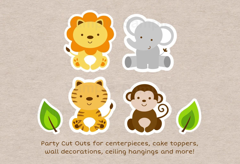 Safari Animal Cut Outs Safari Baby Shower Jungle Animal
