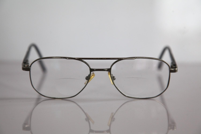 vintage apollo optik eyewear silver frame black temples