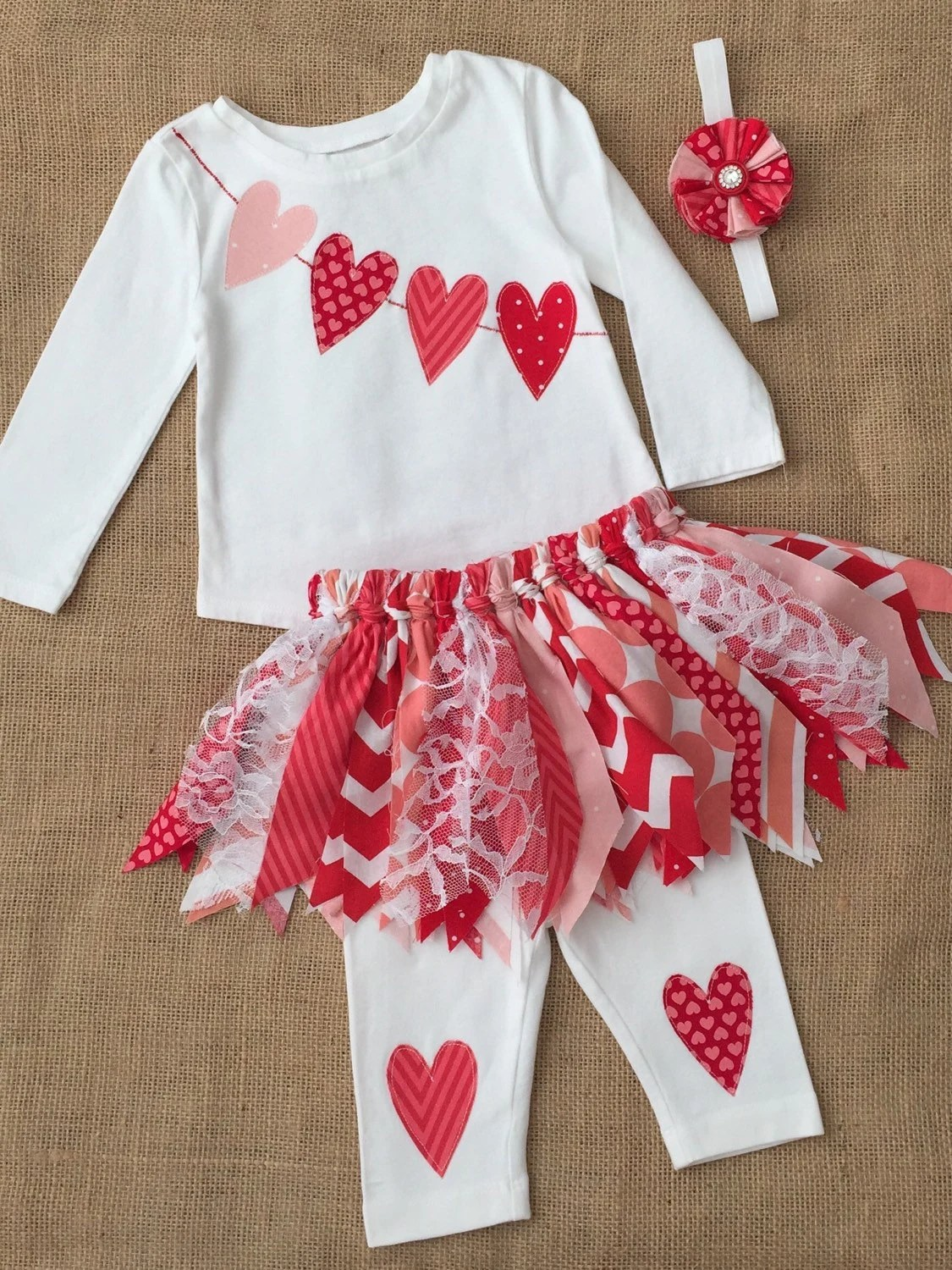 Girls Valentines Day Outfit Baby Girls Heart Outfit