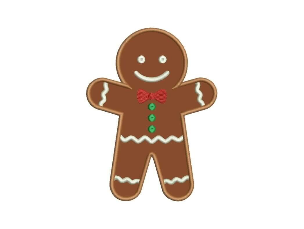 Gingerbread Boy Applique Designs Machine Applique Embroidery