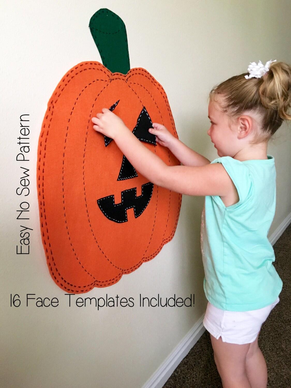 Kids Halloween Activity Felt Jack O Lantern Pumpkin Pattern