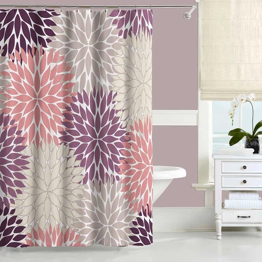 Art Shower Curtain Brown Shower Curtain Beige Cream Abstract