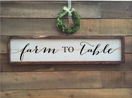 Farm To Table Sign Farmers Market Sign Vintage Home