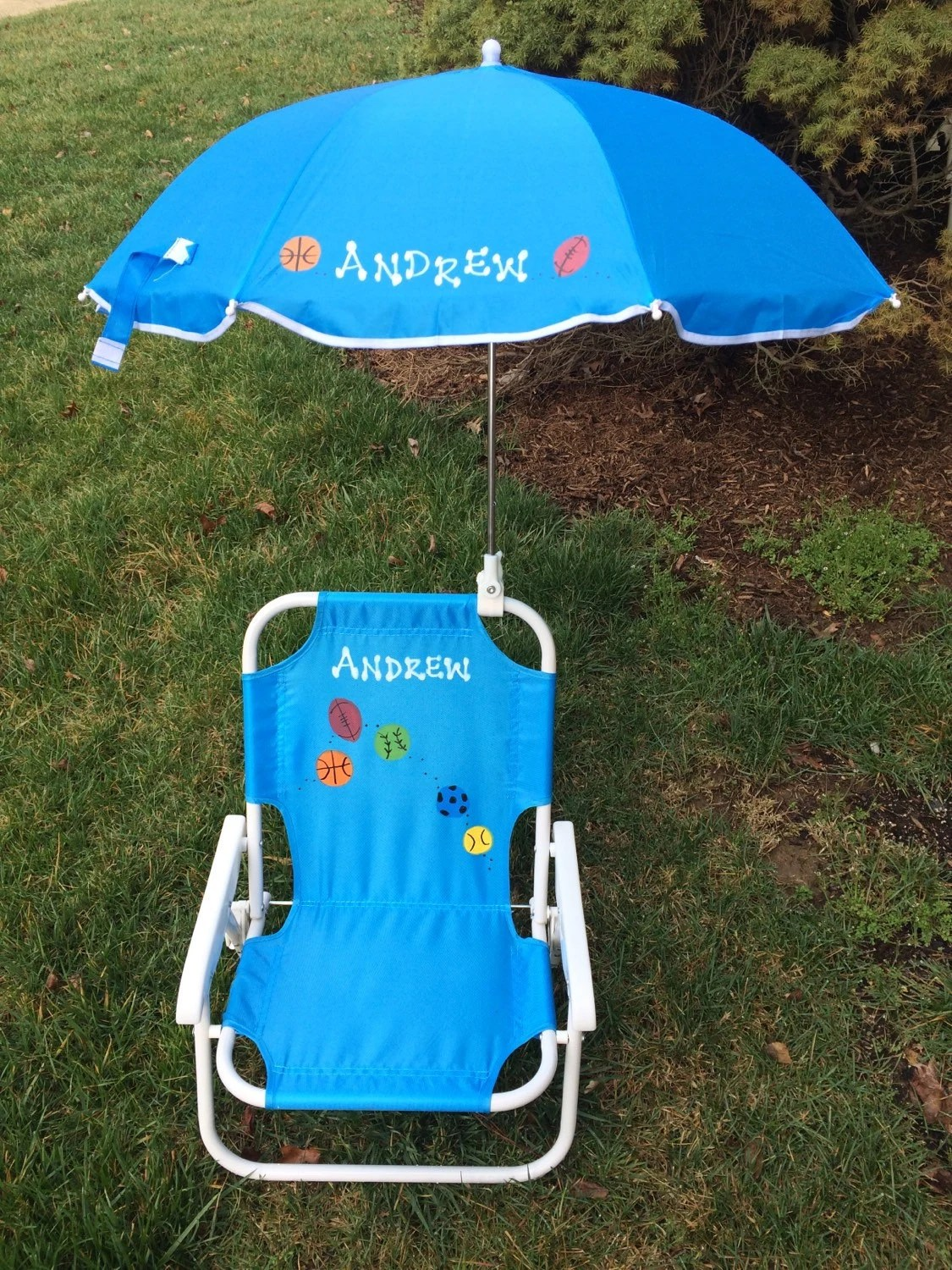 Personalized Beach Chair Amp Umbrella For Kids