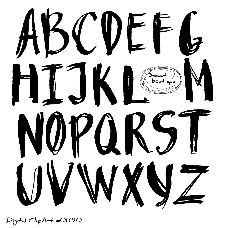 Black Alphabet Letters Font Clip Art Black Alphabet Black