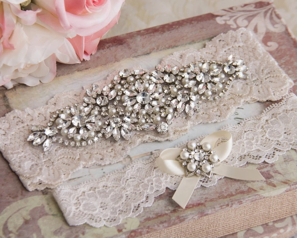 Wedding Garter Set Ivory Bridal Garter Set Ivory Lace