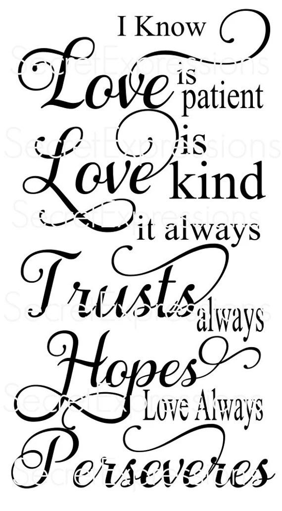Download Love Is Patient Svg Free - Love Is Patient...1 Corinthians ...