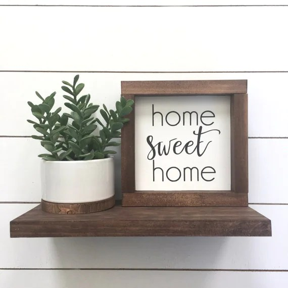 Home Sweet Home Mini Wood Sign Home Decor Shelf Decor