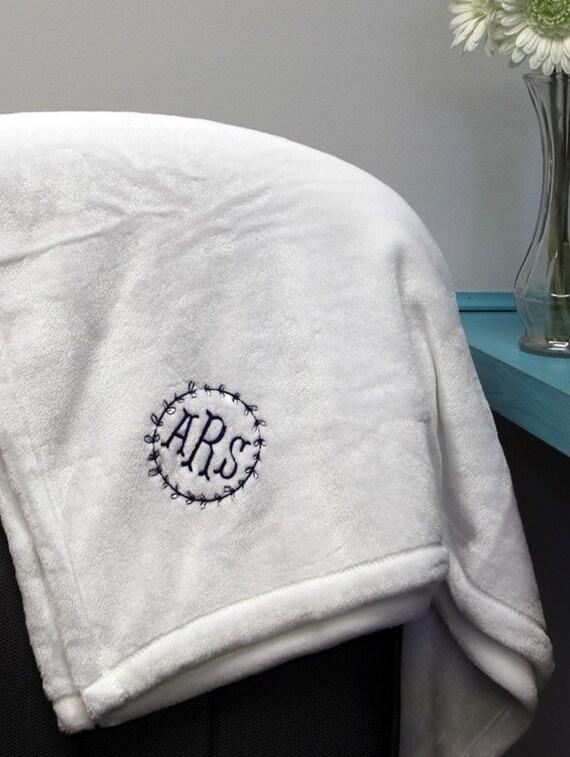 Personalized Throw Blanket Monogrammed Micro Fleece Throw