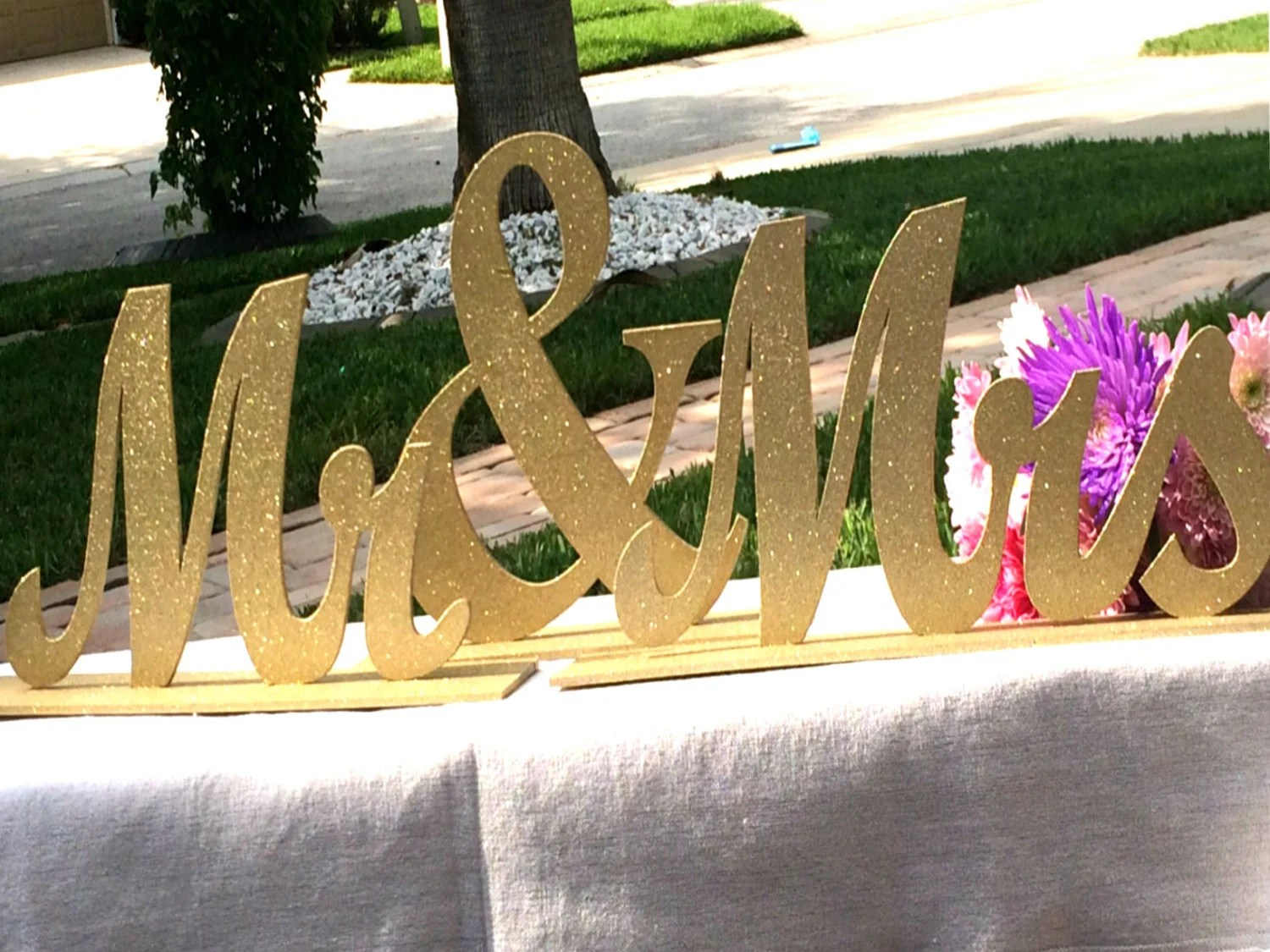 Mr And Mrs Sign Wedding Sweetheart Table Mr By