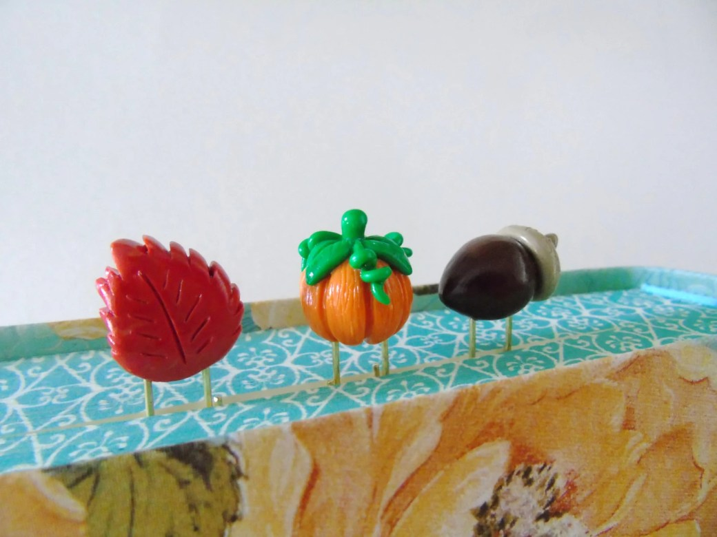 Fall Polymer Clay Papercl...