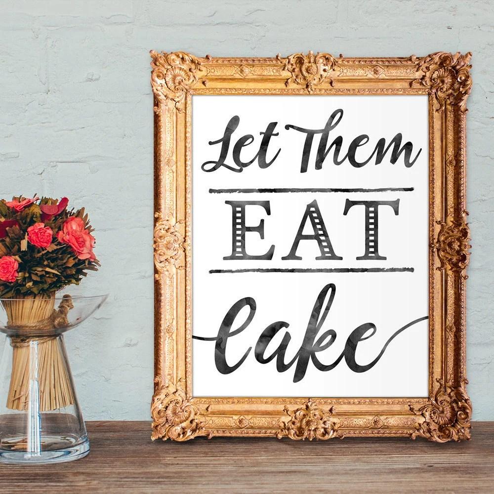Wedding Cake Sign Let Them Eat Cake Cake Table Sign