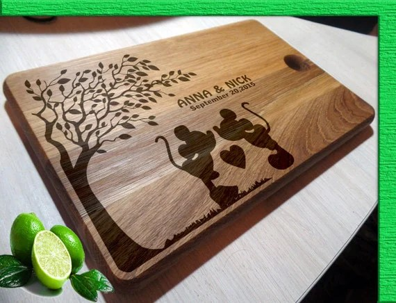 Cutting Boards Handmade / Mickey Mouse Cutting Board Wedding