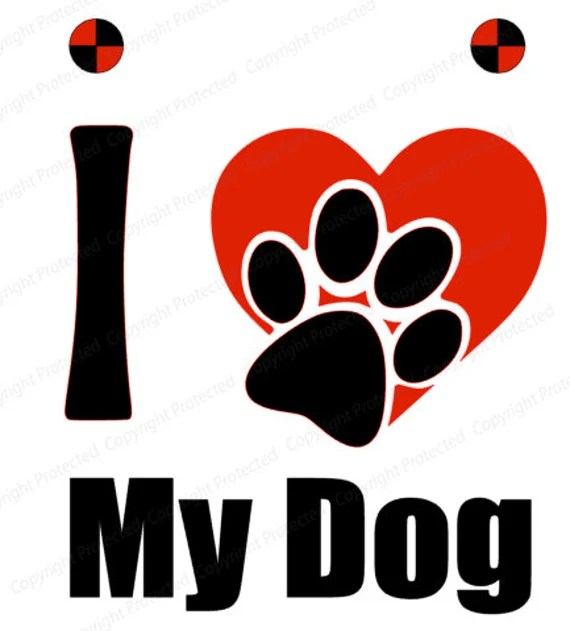 Download I love my dog pet SVG Files for Silhouette Cameo craft