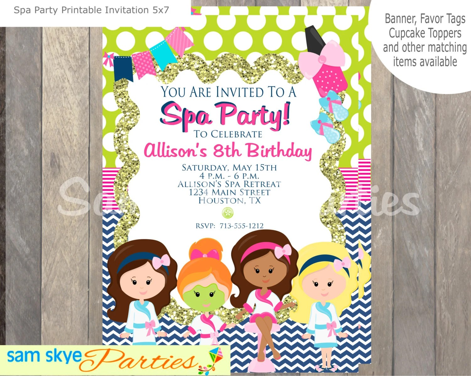 Printable Invitations 5x7