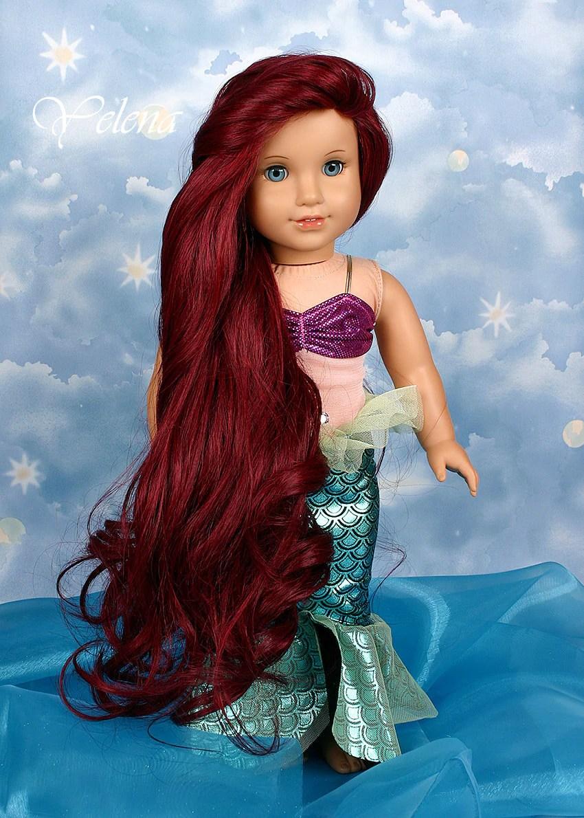 Custom American Girl Doll 18 Princess Ariel Mermaid
