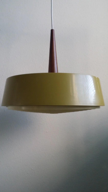 LOUIS KALFF PHILIPS Pendant Lamp Metal Wood Light 60s