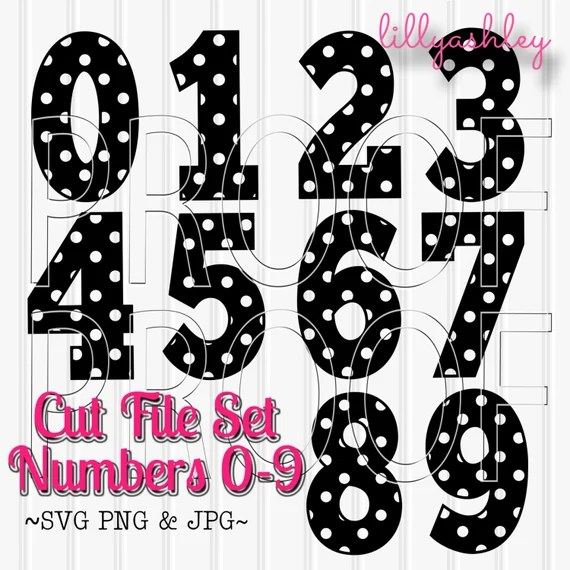 Download SVG Files Set of 10 number cut filesIncludes 0 through 9
